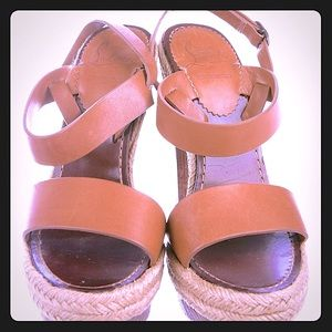 Christian Louboutin Brown Leather platform sandals